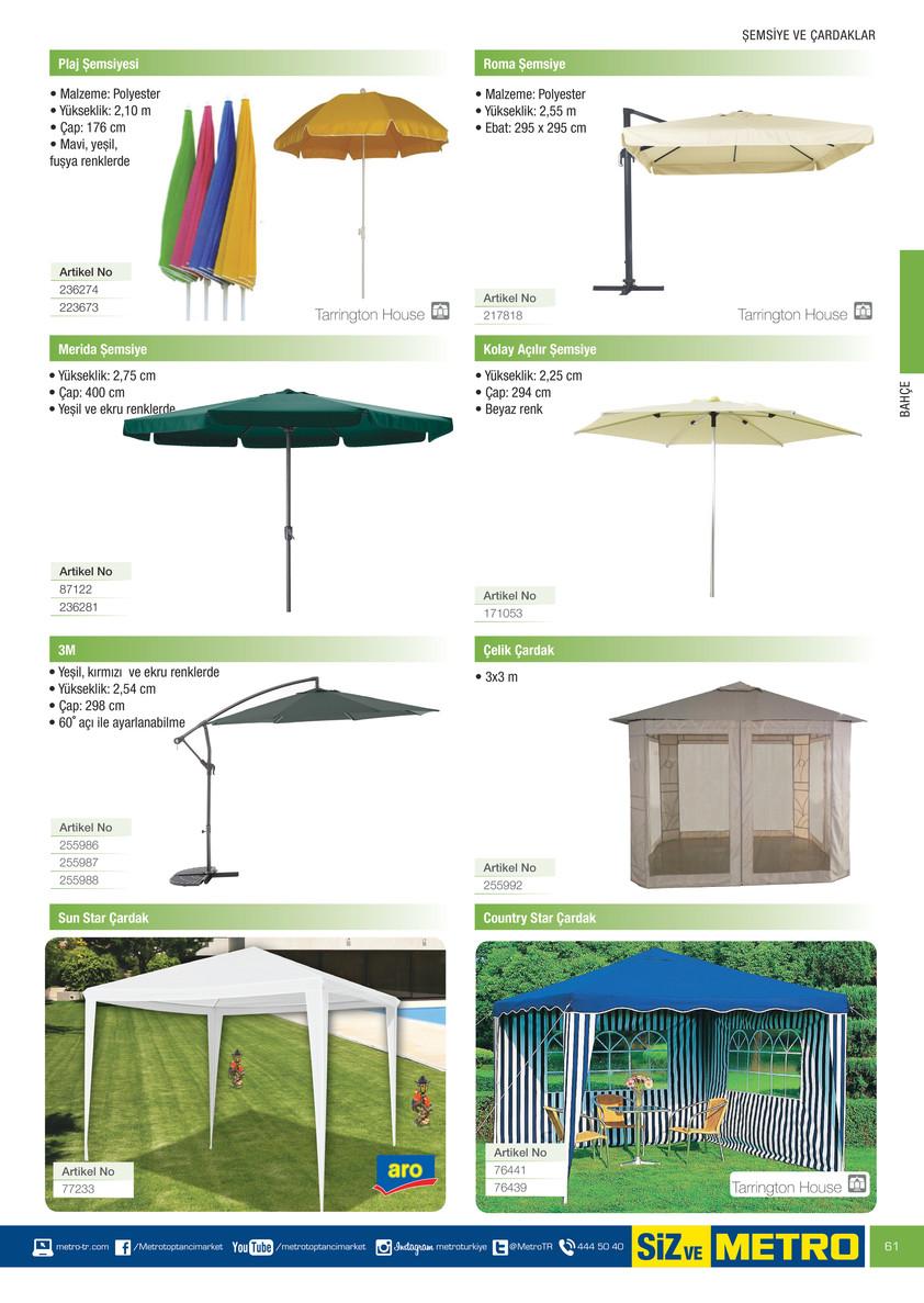 Metro Bahçe Mobilyaları kataloğu